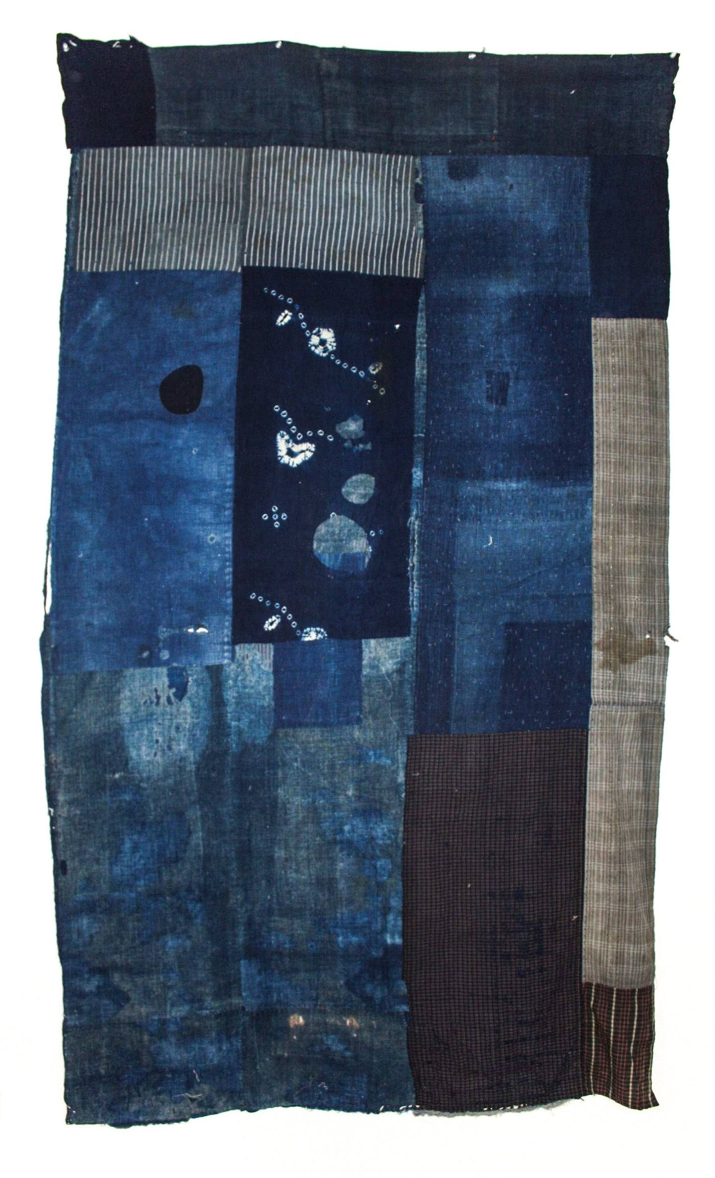 Indigo-Dyed and Patchwork Blanket