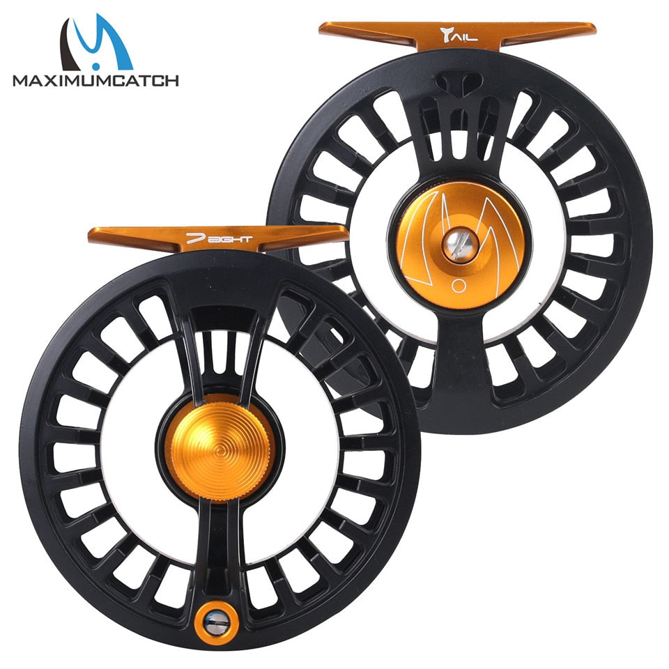 Maxcatch Tail Fly Fishing Reel 3/4 5/6 7/8wt Large Arbor Waterproof Light Weight