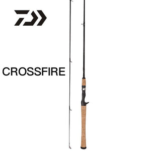 DAIWA CROSSFIRE Carbon Fiber Fishing Rod Fast Action  Aluminum Oxide Guides - Fishing Manor