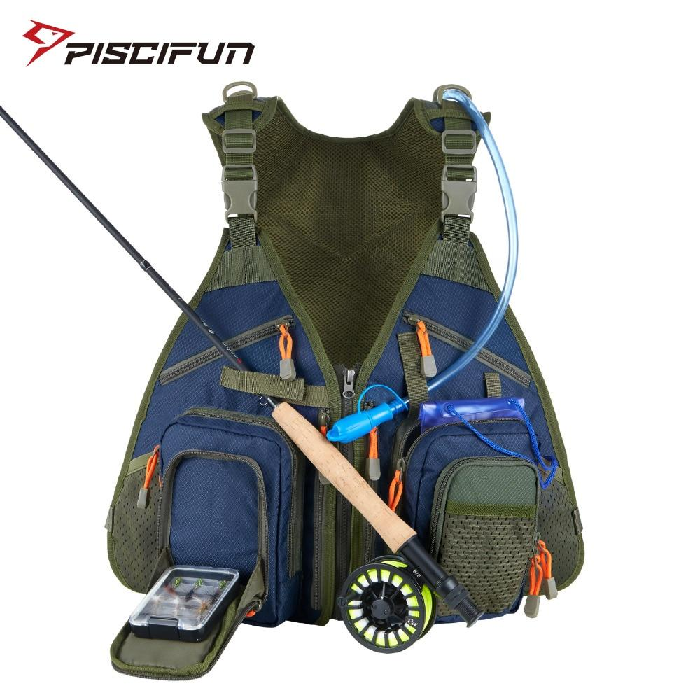 Piscifun Fly Fishing Vest Fishing Angler Vest for Tackle and Gear - Fishing Manor