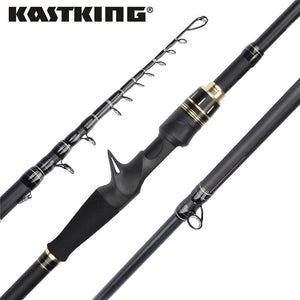 KastKing Blackhawk II Carbon Spinning Ultralight Telescopic Fishing Rod - Fishing Manor