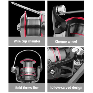 LINNHUE Fishing Reel All Metal Spool Spinning Reel
