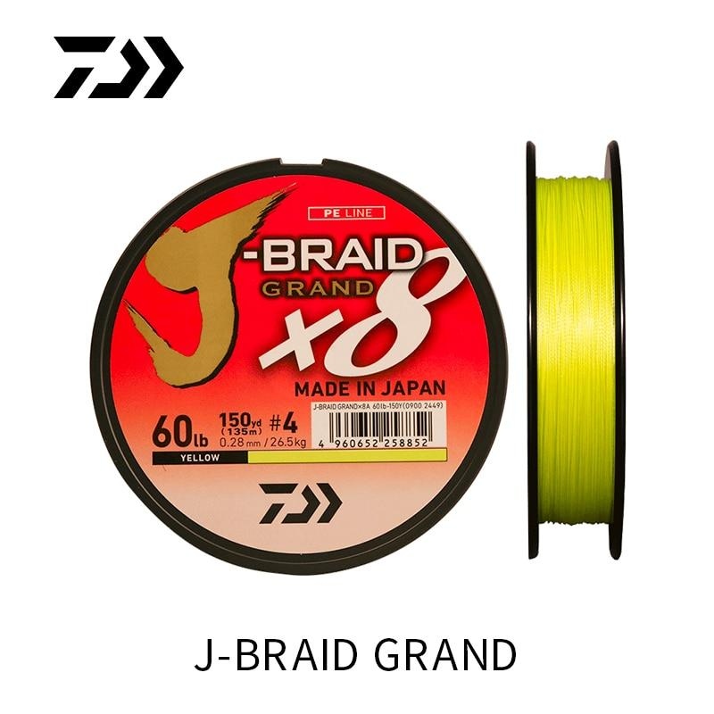 DAIWA  J-BRAID GRAND PE  braided line 8 fishing line 135m 150m 270m 300m - Fishing Manor