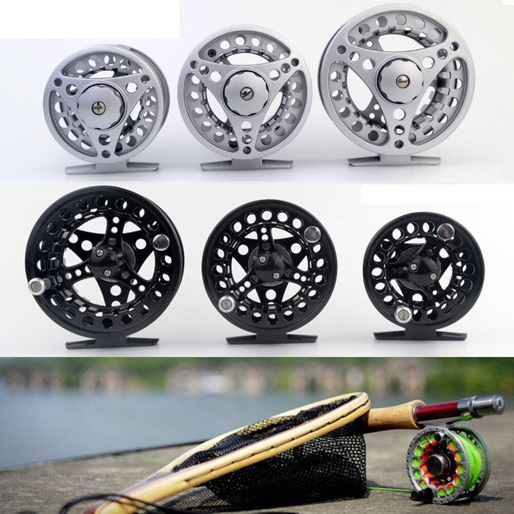 Large Arbor Fly Fishing Reel 28mm Fly Reel 3/4/5/6/7/8 WT Large Arbor Silver/Black Aluminum Single Action