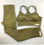 Always Right Active Seamless Sports Bra Set - Olive - FyreDrip