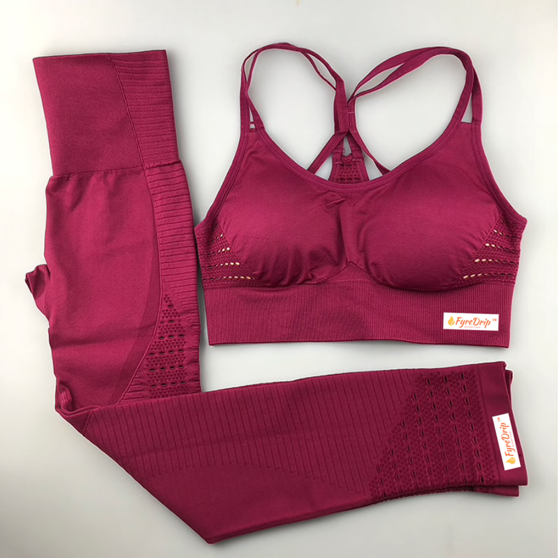 Always Right Active Seamless Sports Bra Set - Pink - FyreDrip