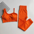 Fit And Flirty Active Seamless Sports Bra Set - Orange