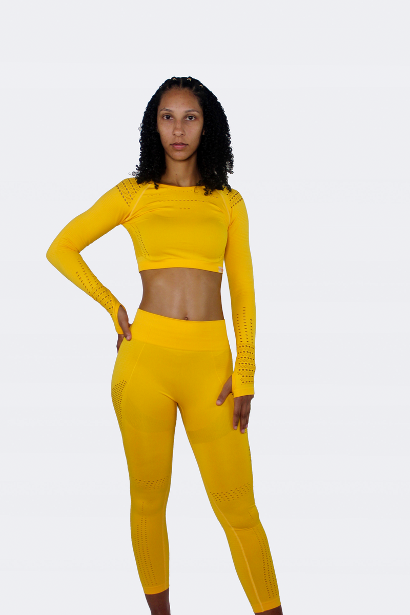 Shape Me Up Active Seamless Set - Yellow Color