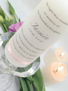 Love Lost - Personalised Memorial Candle