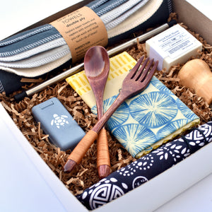 Canadian curated gift box filled with sustainable, eco-friendly  products.
