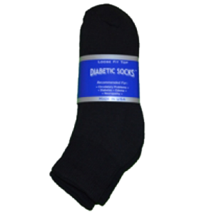 Black Diabetic Golf Socks