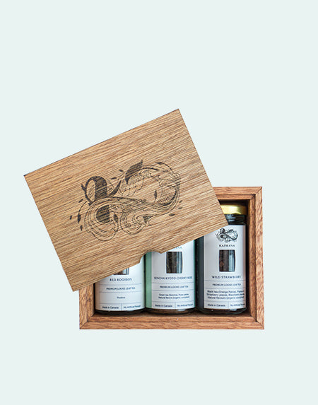 Wooden Box Tea Gift Set