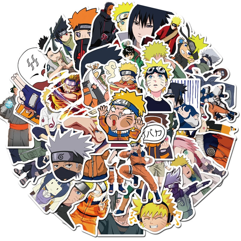 50pcs Naruto Anime Stickers