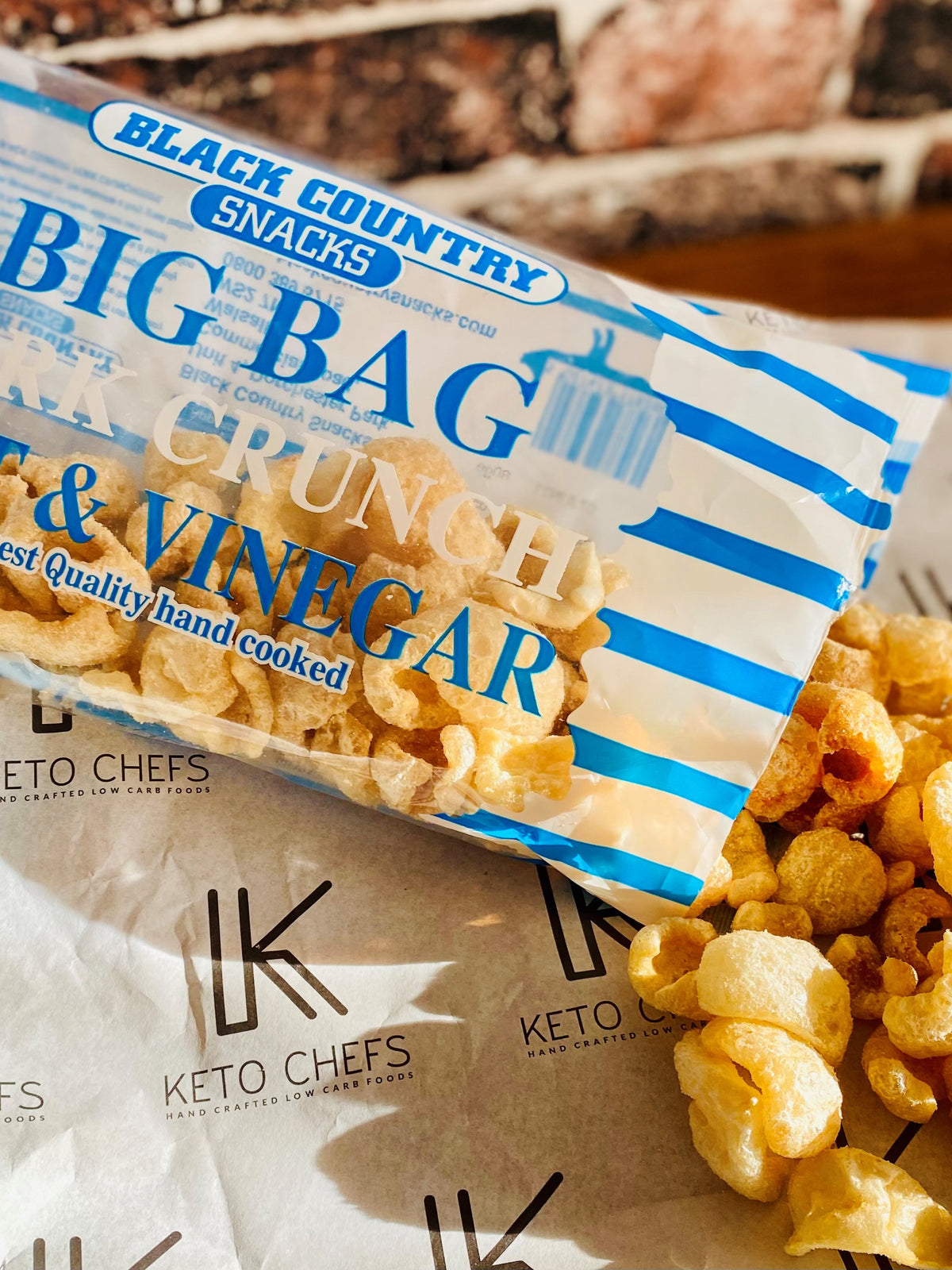 Black Country Salt & Vinegar Pork Crunch Big Bag 80g