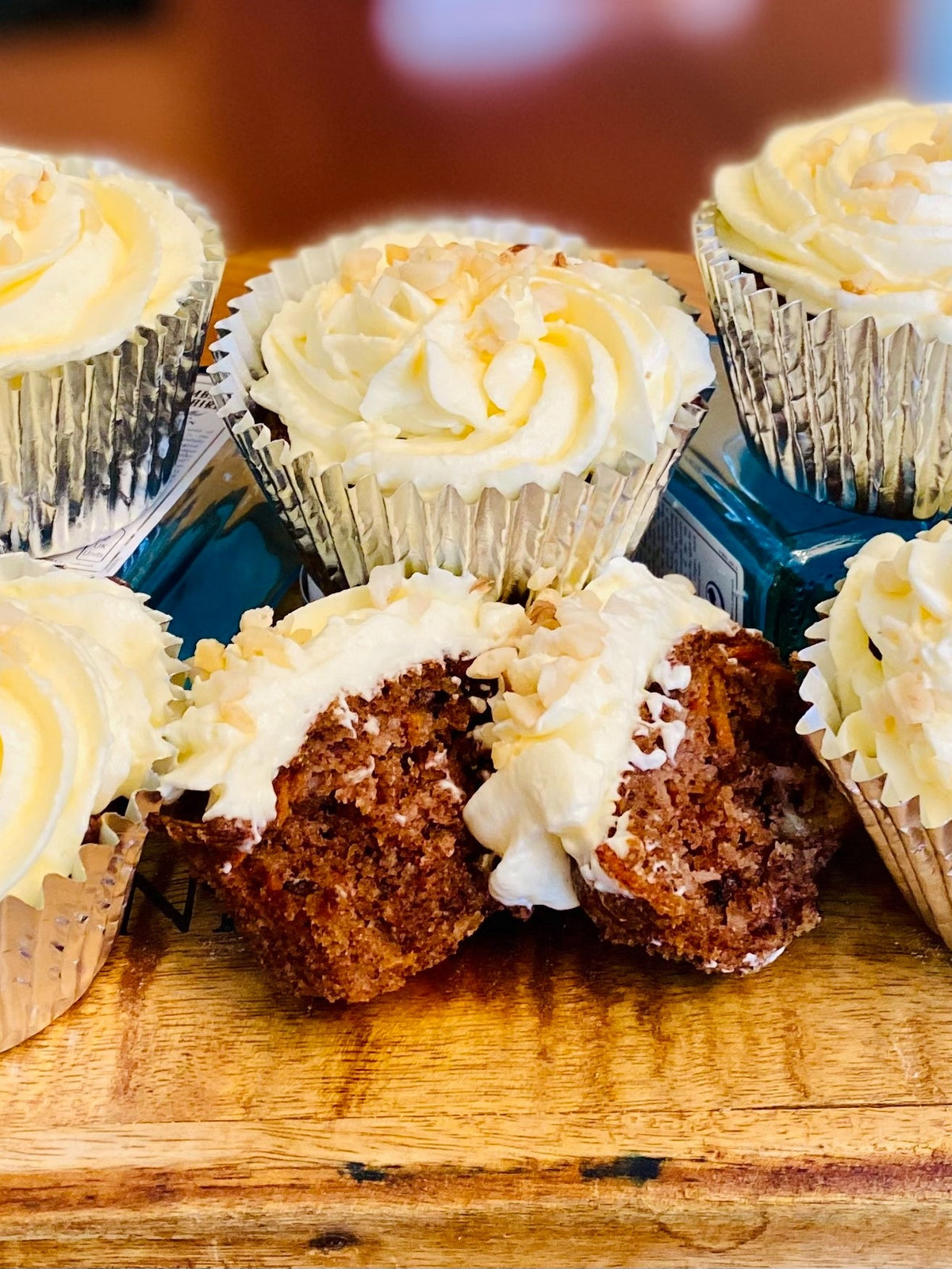 PIY Carrot Cake Cupcakes x 6 (freezer friendly)