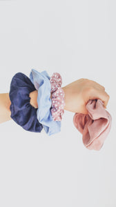 Kids Face Mask - Scrunchie Combo - Navy