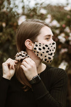 Load image into Gallery viewer, Face Mask - Scrunchie Combo - Leopard Print