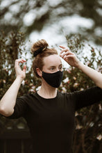 Load image into Gallery viewer, Face Mask - Scrunchie Combo - Navy