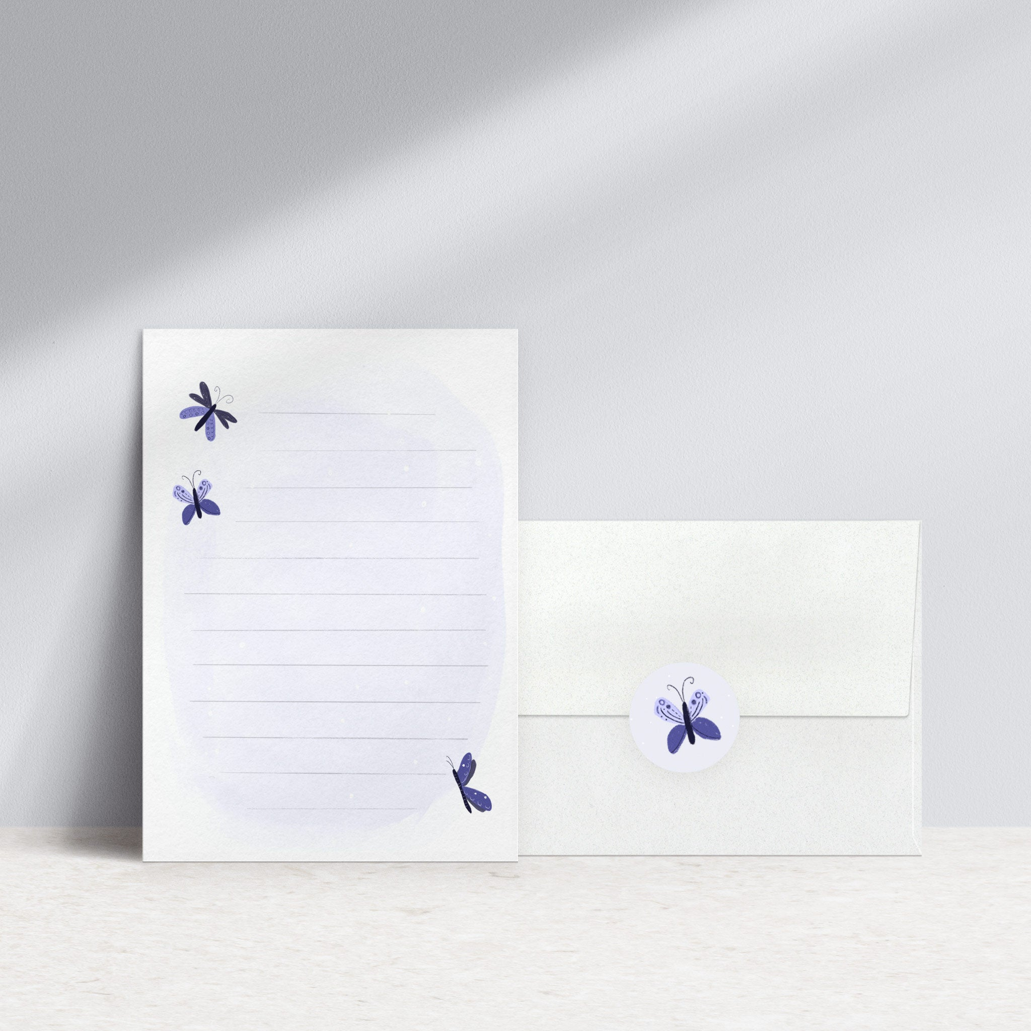 Butterflies Woodland stationery set with stickers