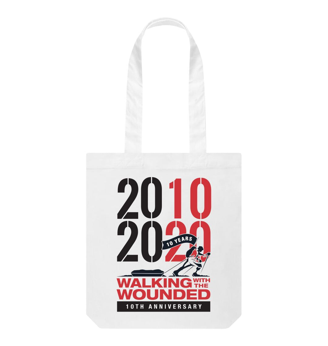 White 2010-2020 Tote Bag
