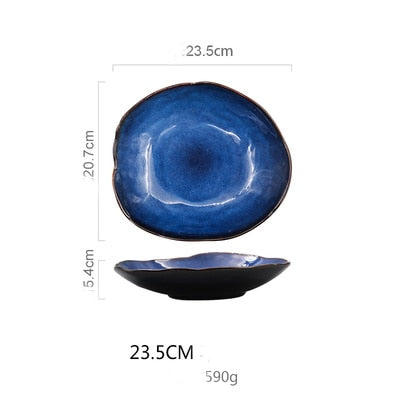 Nordic Sea Ceramic Food Dish Plate