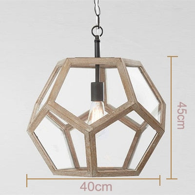 Modern minimalist round wooden beads E27 led pendant lamp children bedroom crystal pendant light living room hotel kitchen lamps