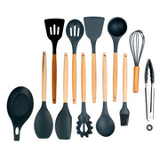 10 Piece Full Set Silicone Cooking Utensils