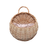 Hand Made Wicker Rattan Flower Basket Green vine Pot Planter Hanging Vase Container Wall Plant Basket For Garden