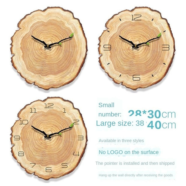 Nordic wall clock living room silent ring quartz clock bedroom clock manufacturer wood clock wall  digital led wall clock