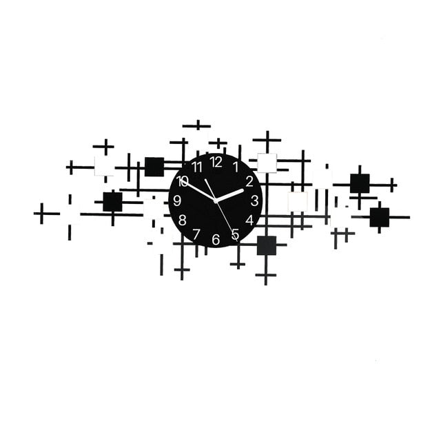 MEISD Large Wall Clock Quality Acrylic Silent Modern Hanging Watch Designer Home Decor Quartz Horloge Living Room Clock Needles