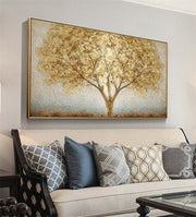 Golden Tree Original Handmade Oil Painting