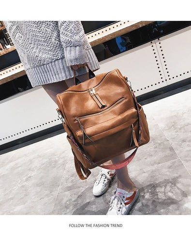 Image of Retro Large Backpack for Women