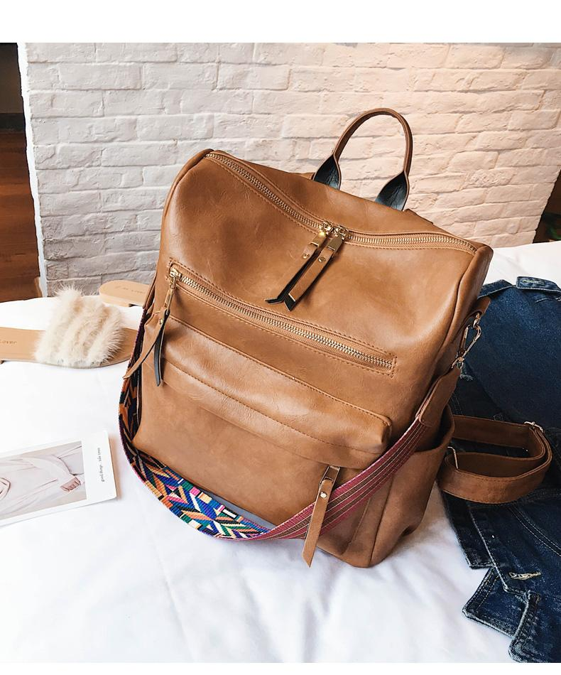 Retro Large Backpack for Women