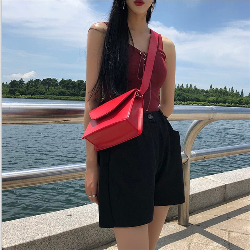 RanHuang New Arrive 2020 Women Pu Leather Shoulder Bags Girls Brief Flap Women's Casual Messenger Bags Crossbody Bags