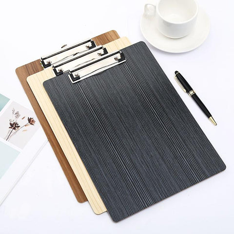 Image of A4 Wood Maple Clipboard Writing Pad
