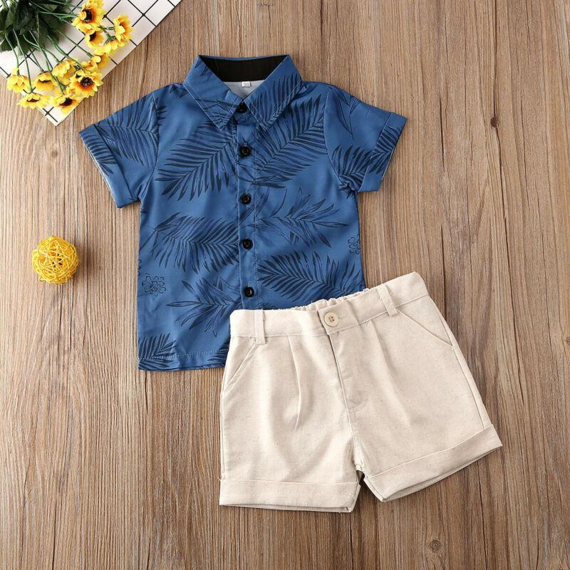 Baby Boy Two Pieces Summer Clothes Set