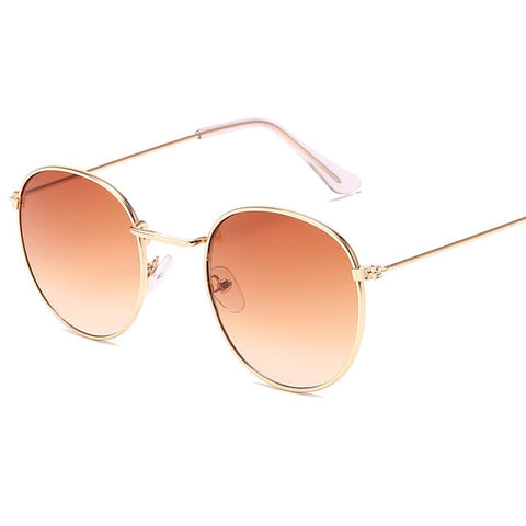 Image of LeonLion 2019 Classic Small Frame Round Sunglasses Women/Men Brand Designer Alloy Mirror Sun Glasses Vintage Modis Oculos