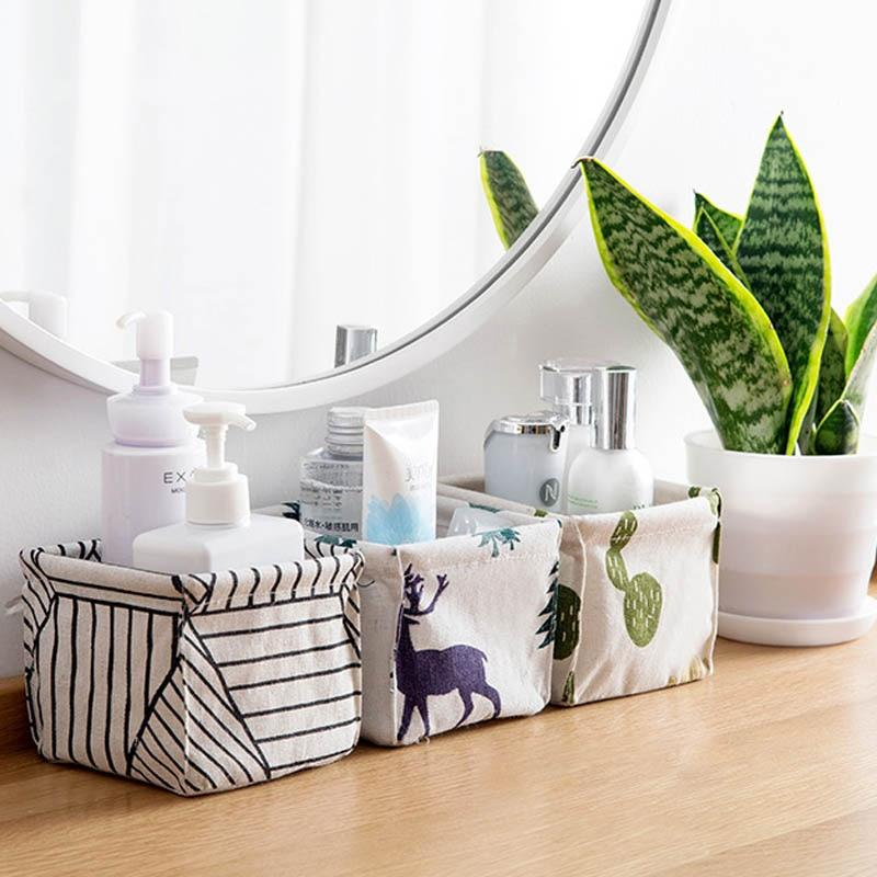 Cotton Waterproof Printed Storage Basket
