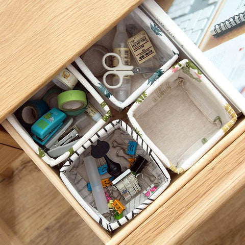 Image of Cotton Waterproof Printed Storage Basket