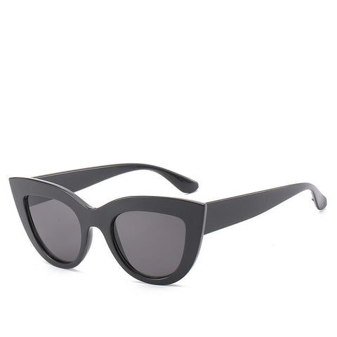 Image of Retro Cat's Eye Sunglasses Trendy Street Shot