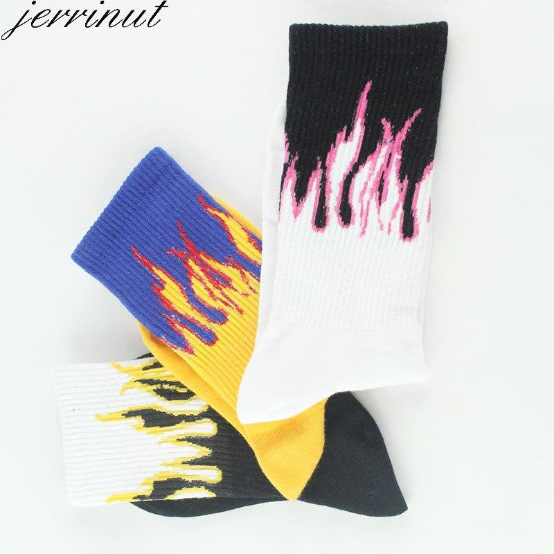 Men's Fashion Fire Printed Socks