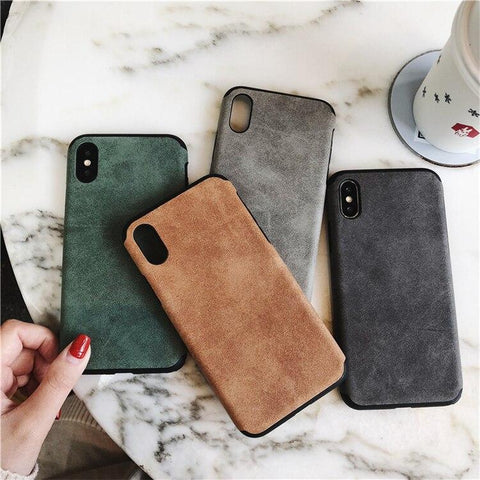 Image of Simple Suede Cloth Phone Case