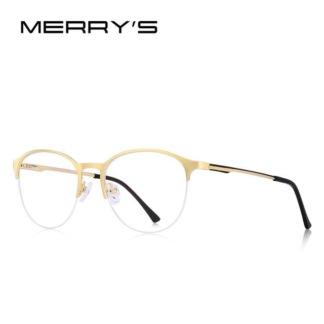 MERRYS DESIGN Unisex Fashion Trending Oval Glasses Frame