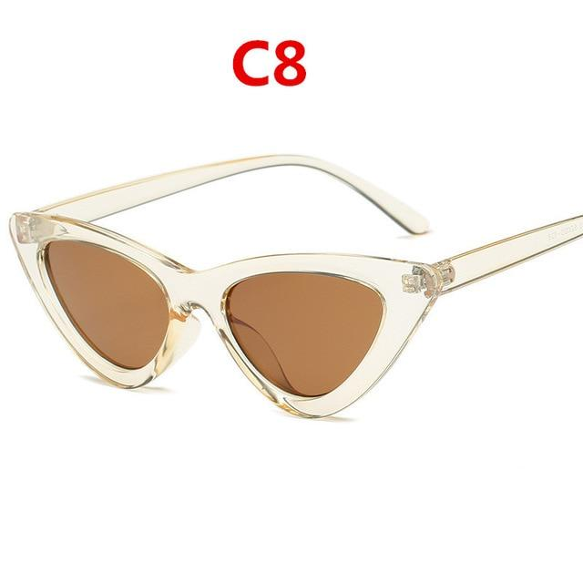 Retro Triangular Sunglasses