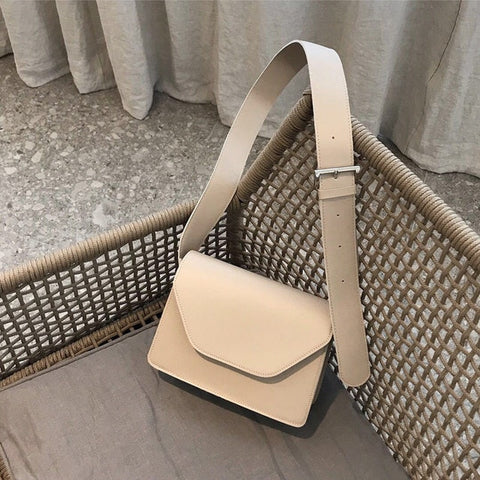 Image of RanHuang New Arrive 2020 Women Pu Leather Shoulder Bags Girls Brief Flap Women's Casual Messenger Bags Crossbody Bags