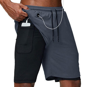 Running Shorts Men Fitness Gym Training Sports Shorts