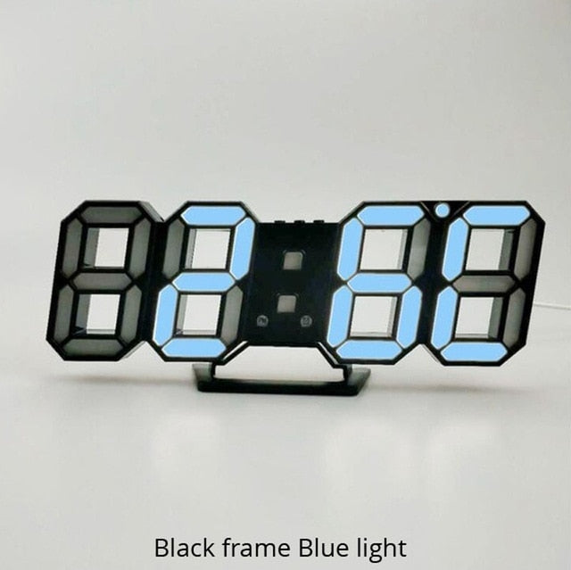 Digital Modern 3D LED Wall Clock