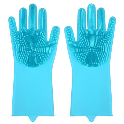 Magic Silicone Washing Sponge Gloves