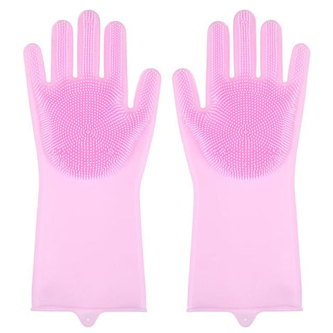 Image of Magic Silicone Washing Sponge Gloves