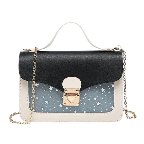 Women Mini Small Square Pack Shoulder Bag Fashion Star Sequin